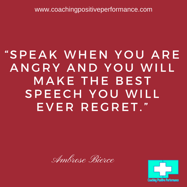 speak when you are angry respond to someone who is angry