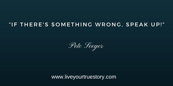 just let go pete seeger speak up
