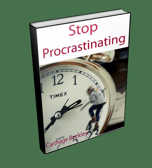 Stop Procrastinating 3D Left