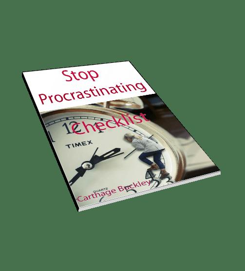 Stop Procrastinating Checklist